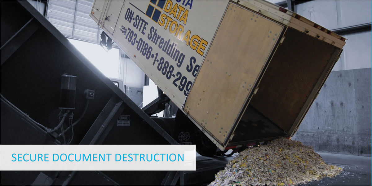 A truck load of securely destroyed documents